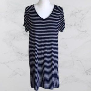 Simply Styled navy blue striped t-shirt dress, M